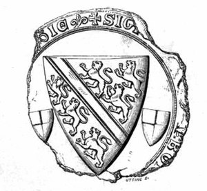 John de Bohun, 5th Earl of Hereford - Counter seal of John de Bohun, 5th Earl of Hereford