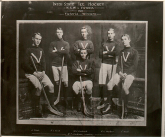 Goodall Cup - The first ice hockey team representing Victoria 1909