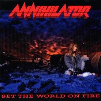 Set the World on Fire (Annihilator album) - Image: Frontvr 2