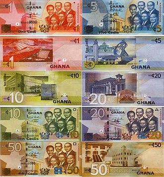 Ghanaian cedi - Image: Ghana Cedi banknotes