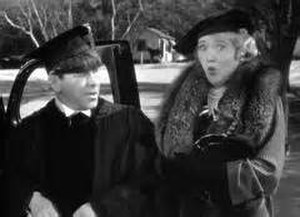 Gladys Gale - Screen capture of Gale with Moe Howard in the 1938 film short, Violent is the Word for Curly.