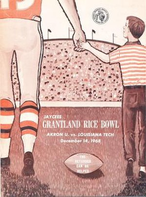 1968 Grantland Rice Bowl - Program cover for 1968 game