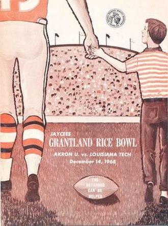 1968 Grantland Rice Bowl - Program cover for 1968 game