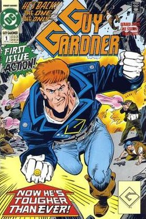 Guy Gardner (comics) - Guy Gardner with his yellow power ring