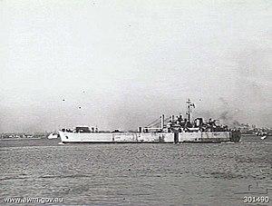 HMAS Tarakan in 1948