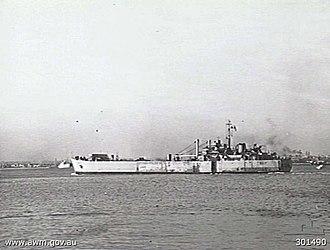 HMAS Tarakan (L3017) - HMAS Tarakan in 1948