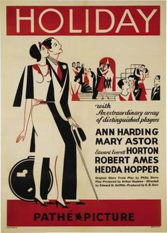 Holiday (1930 film) - Theatrical release poster