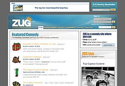ZUG.com's main page layout