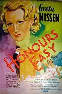<i>Honours Easy</i> 1935 film by Herbert Brenon