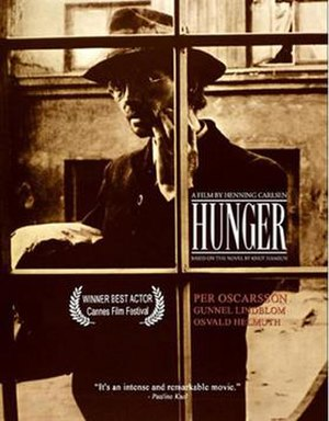 Hunger (1966 film) - Front DVD cover for the film