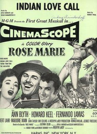 Indian Love Call - Indian love call poster from the movie Rose Marie (1954 film)