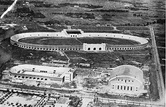 Jiangwan Stadium - The Jiangwan Sports Centre precinct under construction in 1935.