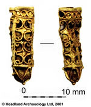 Kisimul Castle - Gold object recovered during the excavations.