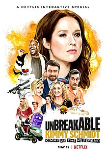 <i>Unbreakable Kimmy Schmidt: Kimmy vs the Reverend</i> 2020 interactive film directed by Claire Scanlon