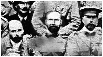 Laurence Waddell - British Army officers in Tibet during 1904, Laurence Waddell (center)
