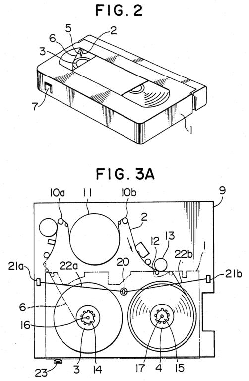 file magnetic video tape recorder diagram us004809115