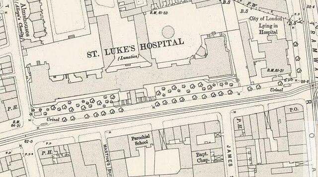 Old Street London Map.File Map Of Luke S Hospital For Lunatics Old Street London 1896