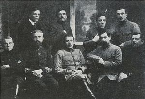 Andriy Atanasovych Melnyk - Members of the last supreme command of the Sich Riflemen. Melnyk is sitting, second from the left