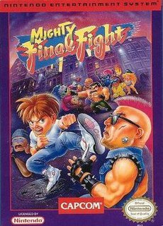 <i>Mighty Final Fight</i> 1993 NES game
