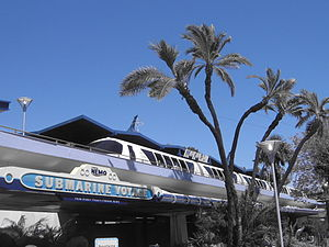 The Disneyland Monorail station in Tomorrowland.