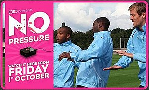 No Pressure (film) - Promotional banner for No Pressure displayed on the 10:10 website prior to the film's release