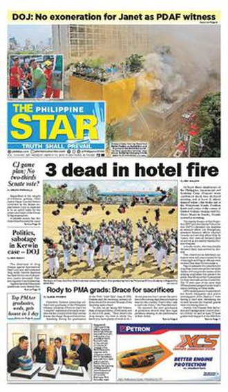 The Philippine Star - Front page from March 19, 2018