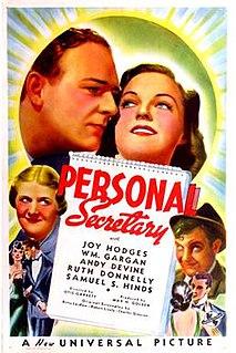<i>Personal Secretary</i> 1938 comedy film