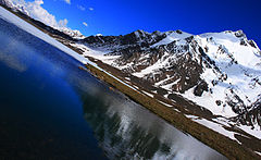 Qurumber Lake in Baroghil Valley, famous for its pristine water, Pakistan.jpg