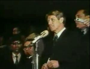 Robert F. Kennedy's speech on the assassination of Martin Luther King Jr. - Robert F. Kennedy giving his speech