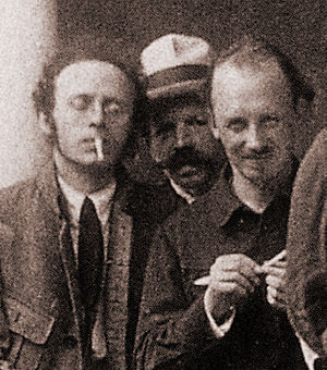 Karl Radek - Karl Radek (left) with Nikolai Bukharin (right) at the 2nd World Congress of the Comintern, Moscow, 1920.