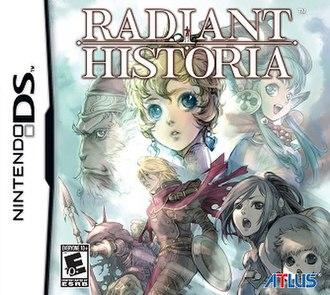 Radiant Historia - North American Nintendo DS box art