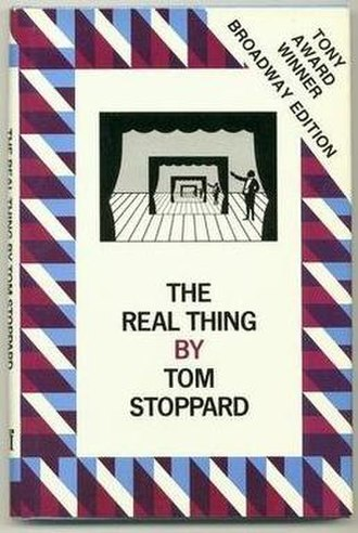 The Real Thing (play) - Cover of the Faber and Faber edition