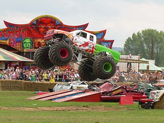 Hop Farm - The Red Dragon Monster Truck at The Hop Farm
