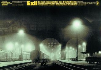 33rd Berlin International Film Festival - 1983 Retrospective poster, titled Exile. Six Actors from Germany