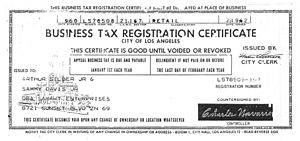 business license for SamArt Enterprises.