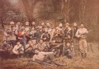 1982 Amol uprising - Group of Sarbedaran guerrillas in forest, during the Amol Uprising 1982