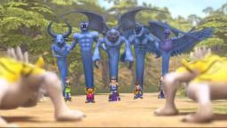 Blue Dragon (video game) - Each of the main characters' shadows.