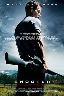 <i>Shooter</i> (2007 film) 2007 American conspiracy action thriller film directed by Antoine Fuqua