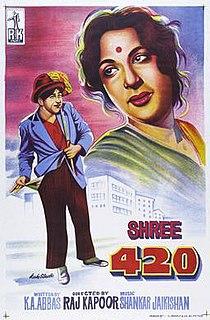 <i>Shree 420</i> 1955 Indian film directed by Raj Kapoor