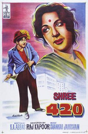 Shree 420 - Original poster