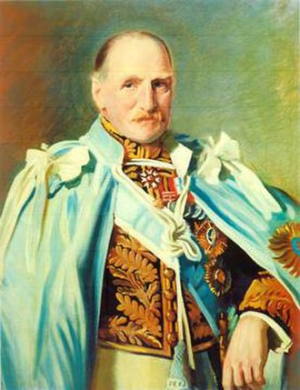 George Frederick Stanley - Portrait by Oswald Birley (detail)
