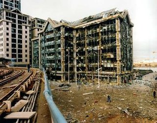 1996 Docklands bombing Truck bombing in London, England by the Provisional Irish Republican Army
