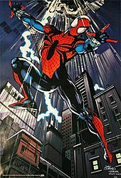 Ben Reilly as Spider-Man wearing the costume designed by Mark Bagley. Art by Dan Jurgens and Klaus Janson.  sc 1 st  Wikipedia & Ben Reilly - Wikipedia