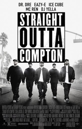 Straight Outta Compton (film) - Theatrical release poster