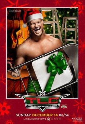 TLC: Tables, Ladders & Chairs (2014) - Original promotional poster featuring Dolph Ziggler