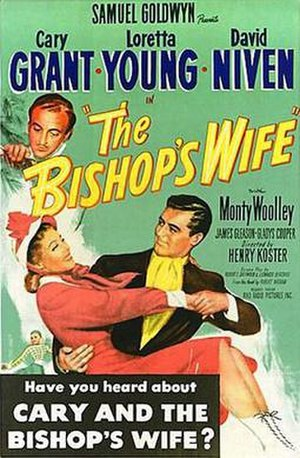The Bishop's Wife - In markets where the original title was kept, the posters had a black text box added