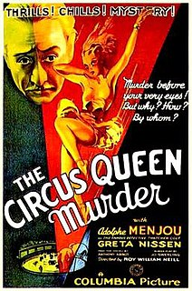 <i>The Circus Queen Murder</i> 1933 film by Roy William Neill