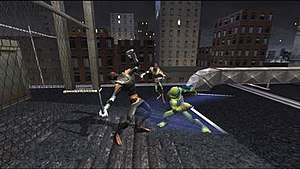 TMNT (video game) - A screenshot from the home version.