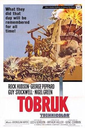 Tobruk (1967 film) - film poster by Frank McCarthy