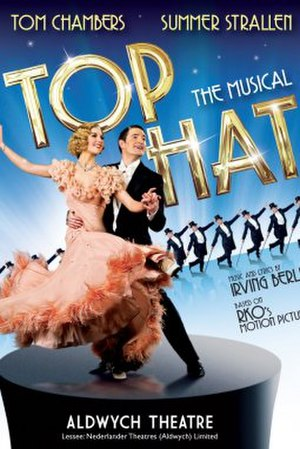Top Hat (musical) - Advertising poster for the original West End cast at the Aldwych Theatre, London